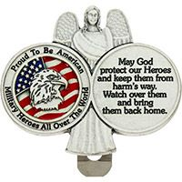 Proud to be American Enameled Visor Clip