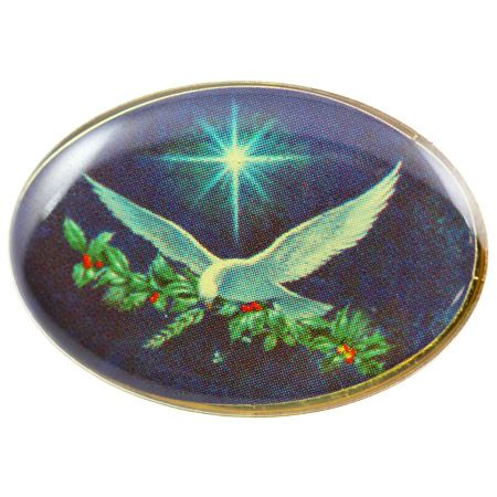 Christmas Dove Pin with Star
