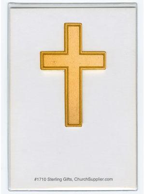 Gold Pocket Cross on Card back