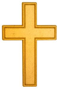 Gold Pocket Cross back