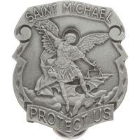 St Michael visor clip pewter