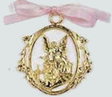 Gold Baby Crib or Stroller Protector Medal