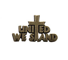 United We Stand Pin w Cross