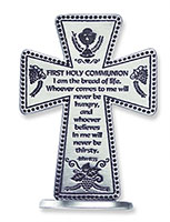 Communion Message Cross Pewter
