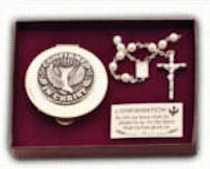 Girls Confirmation Rosary Set
