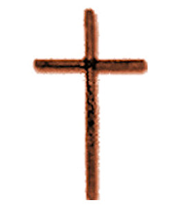 Antique Gold Wall Cross with Rope Center