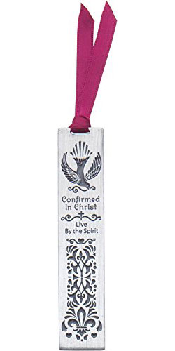 Confirmation Metal Bookmark With Ribbon