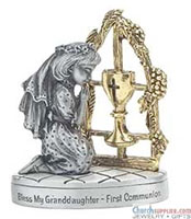 Bless My Grandaughter Communion Figurine