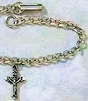 Communion Crucifix Pewter Bracelet