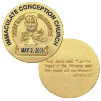 Semi-Custom Communion Coin (50)