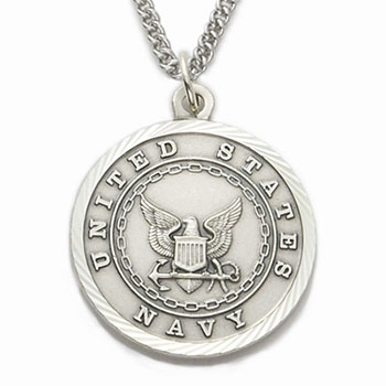 St. Michael Navy Necklace