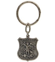 St. Michaels Policeman Key Chain