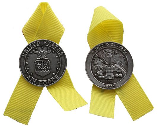 Military Medal Pin with Ribbon