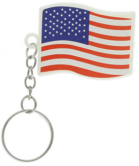 American Flag Keychain Soft Vinyl