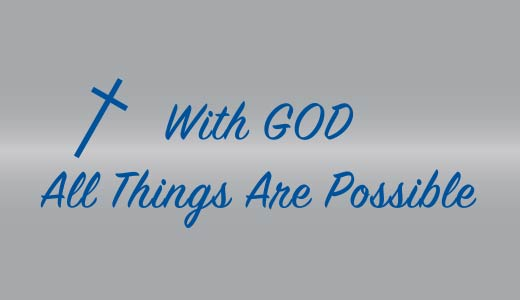 With God All Things Are Possible Pen Text
