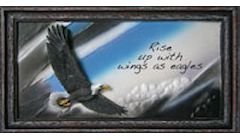 Wings of Eagles Rustic Resin Plaque