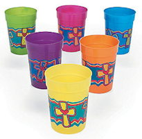 Cross Religious Plastic Drink Cups