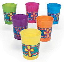 Cross Religious Plastic Drink Cups (Pkg of 12)