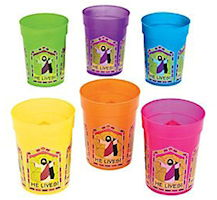He Lives! Religious Plastic Drink Cups (Pack of 12)