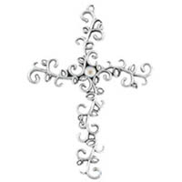 Pewter Mustard Seed Wall Cross
