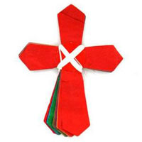Cross Shaped Multicolored Garland