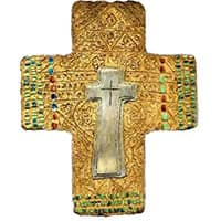 Hope Wall Cross artificial stone cement.