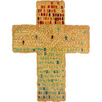 Faith Wall Cross Large Artificial Stone