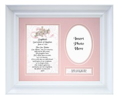 Personalized Baptismal Girl Plaque & Frame