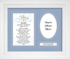 Personalized Baptismal Boy Plaque & Frame