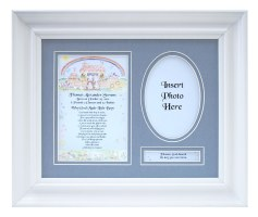 Personalized  Newborn Baby Boy Plaque & Frame