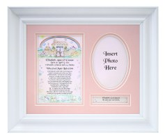 Personalized Girl Newborn Baby  Plaque & Frame