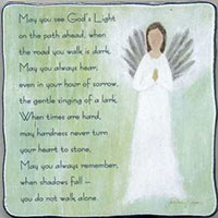 God's Light Memorial Blessing Plaque