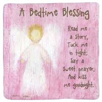 Bedtime Blessing Girl's Metal Plaque