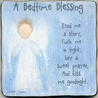 Bedtime Blessing Boy's Metal Plaque