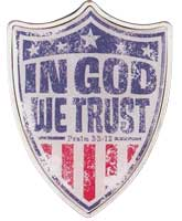 In God We Trust Auto Sun Visor Clip