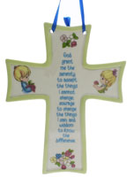 Serentity Ceramic Wall Cross