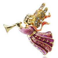 Christmas Trumpeting Angel Pin