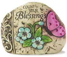 Count Your Blessings Garden Rock
