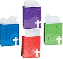 Brightly Colored Cross Gift Bags