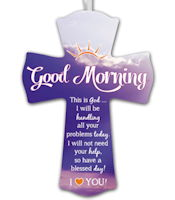 Good Morning God Wall Cross Love You