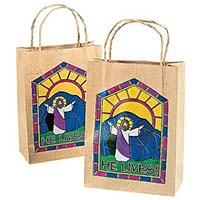 Jesus Christ Resurrection Easter Gift Bags (Pkg of 12)