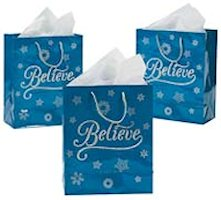 Believe Gift Bags with Handles (12)