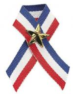 Red, White, Blue Ribbon and Star Pin