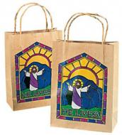 Colorful Jesus Christ Gift Bags with Handles (12)