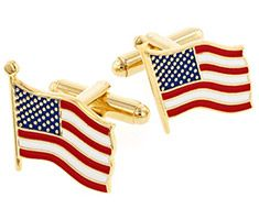 USA American Flag Cufflinks