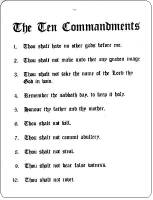 10 Commandments Parking Sign