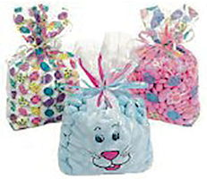 Easter Print Goody Bags  Package of 12