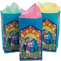 He Lives Easter Gift Bags Paper  (12)