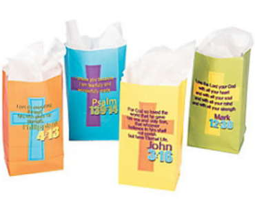 Treat Bags with Bible Verses (Pkg of 12)