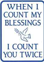 When I Count My Blessings Parking Sign
